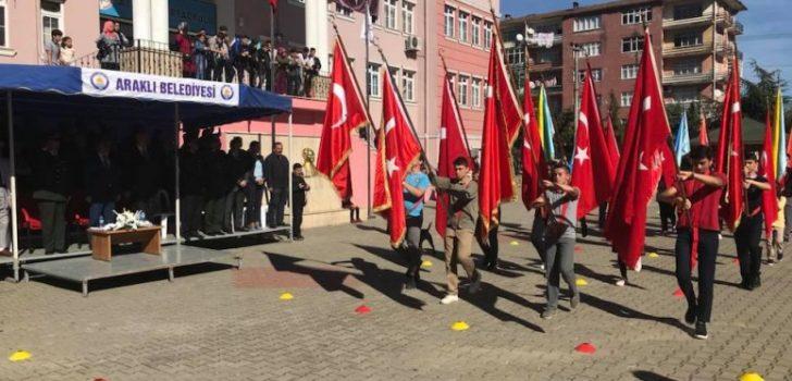 Araklı'da 29 Ekim Cumhuriyet Bayramı Kutlandı