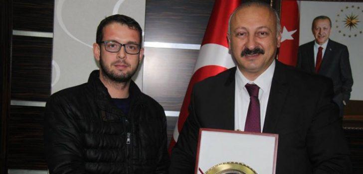 Yüzbaşı Toscalı'dan Başkan Çebi'ye Ziyaret