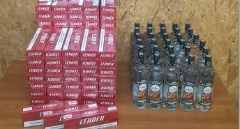 Trabzon'da kaçak içki ve sigara operasyonu