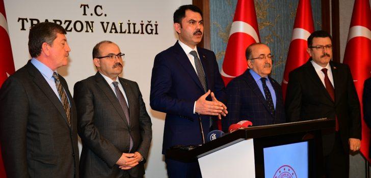 Çevre ve Şehircilik Bakanı Kurum Trabzon'da