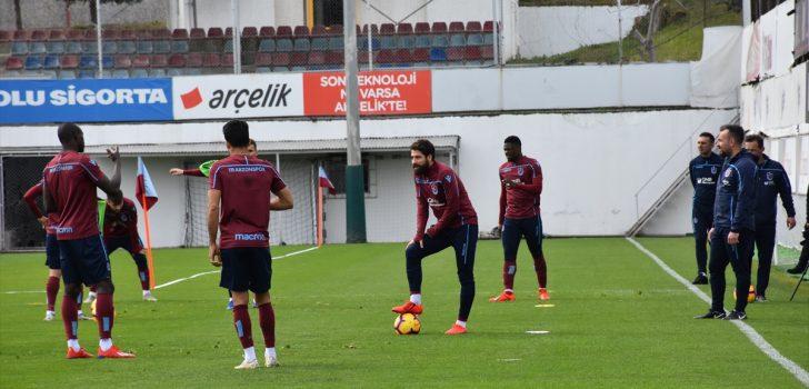 Trabzonspor, Erzurumspor maçı hazırlıklarını sürdürdü