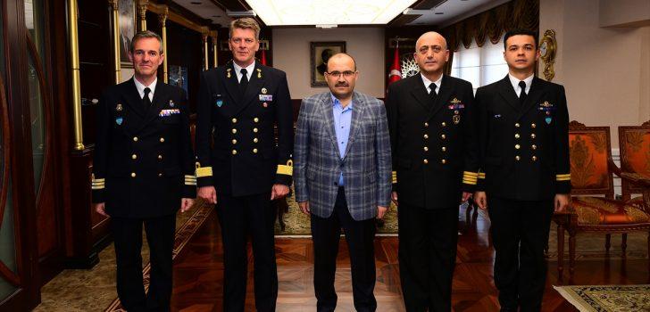 NATO gemi komutanlarından Ustaoğlu'na ziyaret