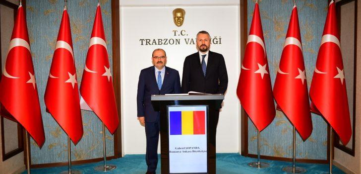 Romanya'nın Ankara Büyükelçisi Şopanda Trabzon'da