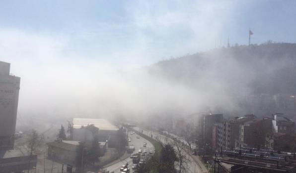 Trabzon'da sis ulaşımı aksattı!