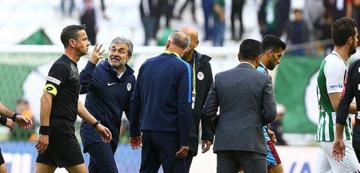 Konya-Trabzon maçında şok: 'Senin ağzını burnunu kırarım'