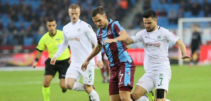 Trabzonspor ile Atiker Konyaspor 36. randevuda