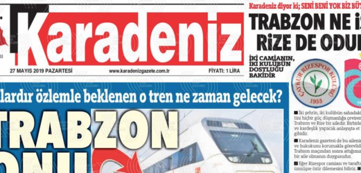 Trabzon'da o gazete Rize'den özür diledi..
