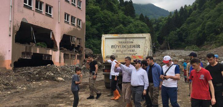 Trabzon'da çalışmalar devam ediyor