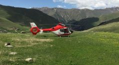 Helikopter ambulansın yoğun mesaisi!