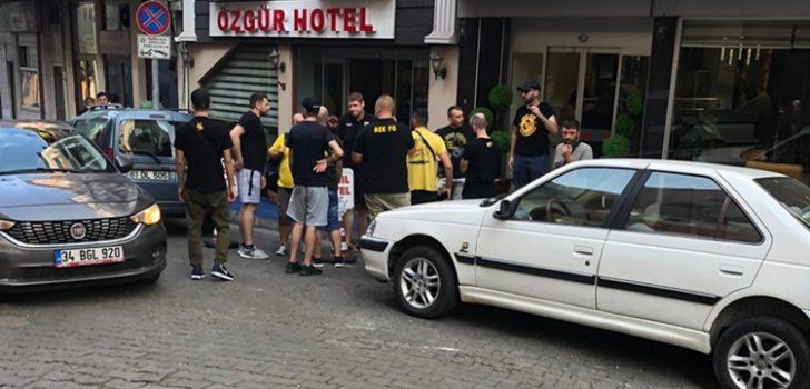 AEK taraftarı Trabzon'a geldi!