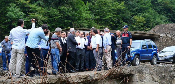 Vali Ustaoğlu, Araklı'da incelemelerde bulundu