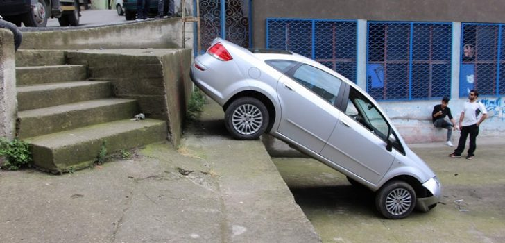 Trabzon'da ilginç kaza!