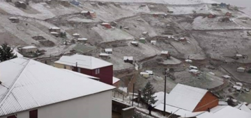Trabzon'a kar yağdı!