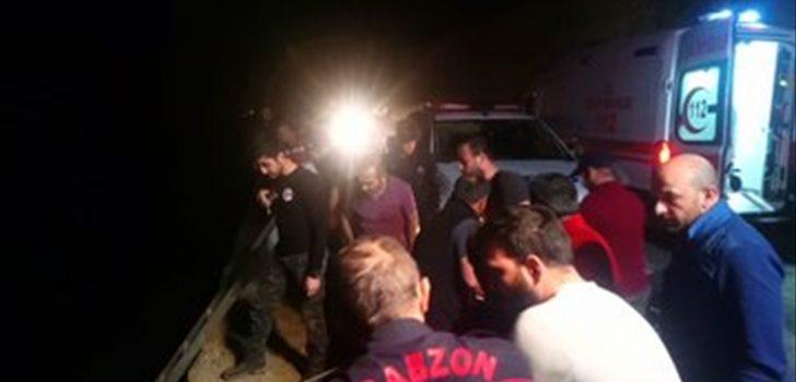 Trabzon'da trafik kazası: 1 ölü, 2 yaralı