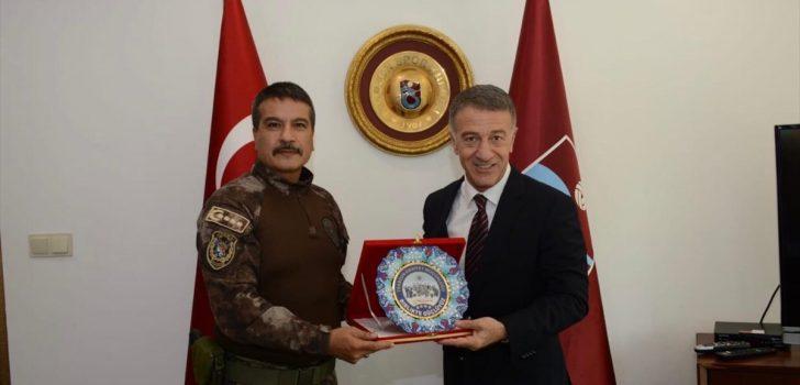 Emniyet Müdürü Metin Alper'den Trabzonspor'a ziyaret