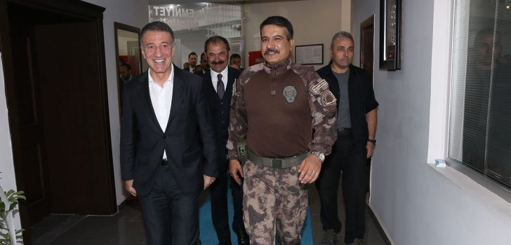 Ağaoğlu'ndan Trabzon Emniyet Müdürü Alper'e ziyaret