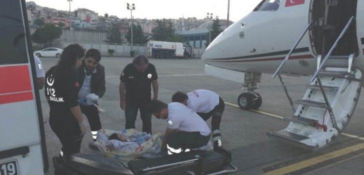 Trabzon'da ambulans helikopterden 9 saatlik uçuş!