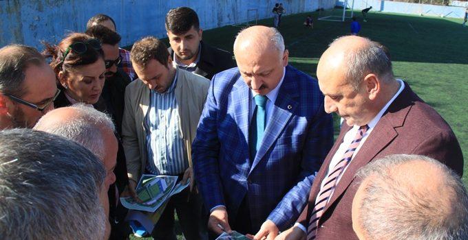 Araklı'da afetin yıktığı stadyum yeniden yapılıyor