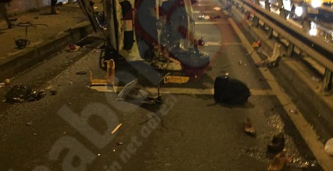 Trabzon'da kaza – Bir anda bu hale geldi