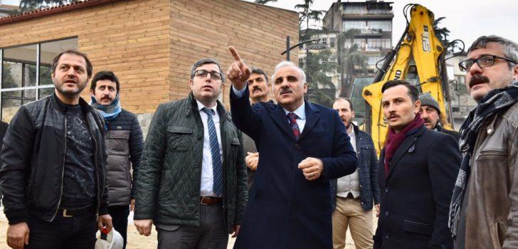 Zorluoğlu Trabzon'da devam eden projeleri inceledi