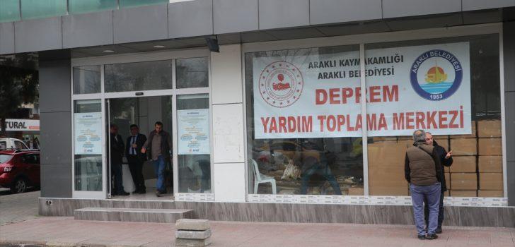 Araklı'dan, deprem bölgesine yardım kampanyası