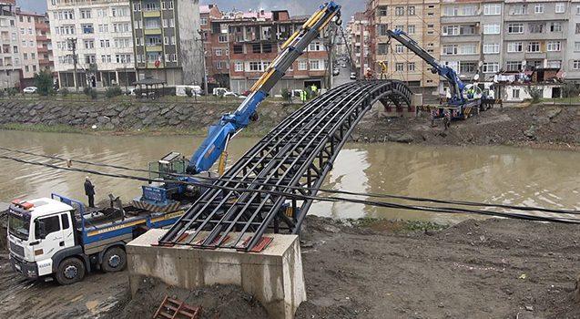 Araklı'da o köprünün inşaasına başlandı