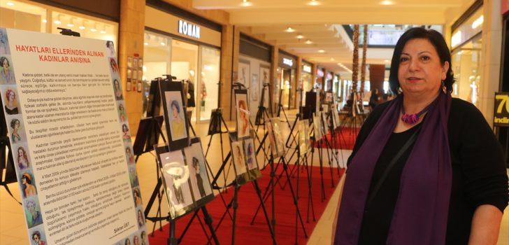 """Öldürülen 3 bin 150 kadın anısına """"Yüzleşme"""" adlı sergi açıldı"""