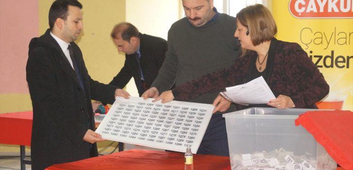 Trabzon'daki ÇAYKUR fabrikalarında çalıştırılacak işçiler kurayla belirlendi
