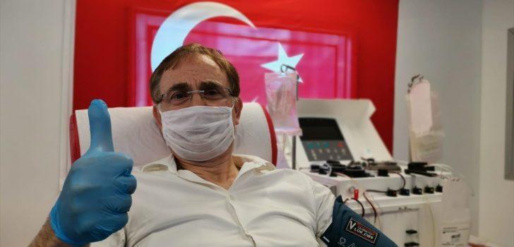 Kovid-19'u yenen Trabzonspor'un eski yöneticisi Kenan Sönmez, immün plazma bağışçısı oldu