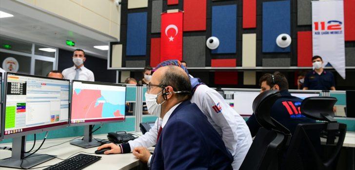 """Trabzon'da acil çağrıların tek merkezden yönetileceği """"112 Acil Çağrı Merkezi"""" hizmete girdi"""