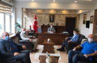Başkan Çebi Göreve Başlayan Araklı Kaymakamı Karaca'yı Ziyaret Etti