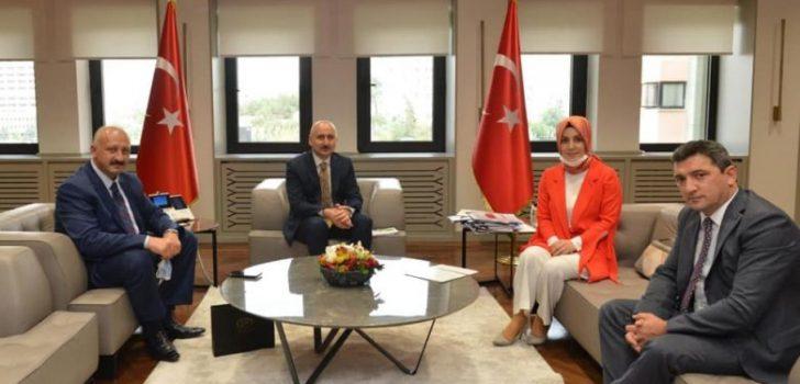 Başkan Çebi Ulaştırma ve Altyapı Bakanı ile Görüştü