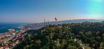 Trabzon'dan Azerbaycan'a dev bayrakla destek