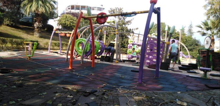 Ortahisar'da park ve bahçe çalışmaları