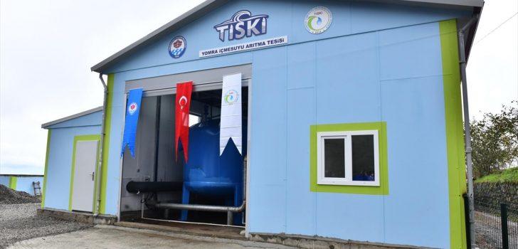 Yomra'daki içme suyu arıtma tesisi hizmete açıldı