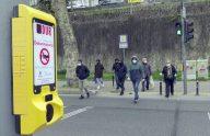 Trabzon'da yaya geçitlerinde temassız buton uygulaması hayata geçirildi