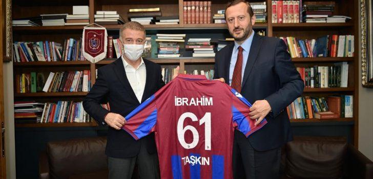 Trabzonspor Başkanı Ağaoğlu'ndan Yıldız Holding Yönetim Kurulu Başkanı Ülker'e ziyaret