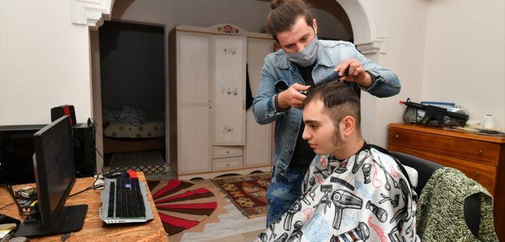 Ortahisar'da engelli vatandaşlar evlerinde ücretsiz tıraş ediliyor