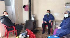 Trabzon'da zorlu kış şartlarına rağmen aşı çalışmaları aralıksız sürüyor