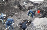 Trabzon'da otopark projesinin çalışmalarında tarihi doku gün yüzüne çıktı