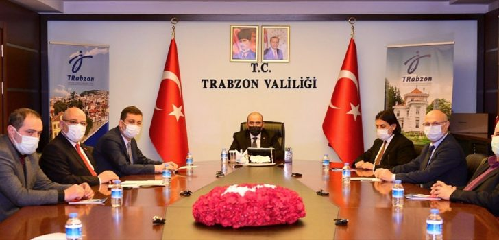 Trabzon Valisi Ustaoğlu esnaf odaları başkanlarıyla salgın tedbirlerini değerlendirdi