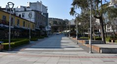 Trabzon'da cadde ve sokaklar boş kaldı