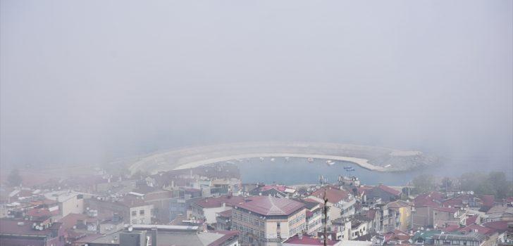 Trabzon'da etkili olan sis güzel görüntüler oluşturdu