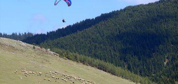 """Trabzon'da """"Kırsaldan Gökyüzüne"""" projesini bitiren gençler, yamaç paraşütü pilotu oldu"""