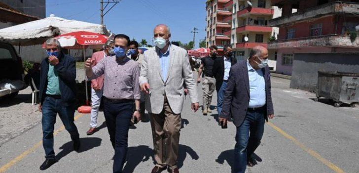 Başkan Çebi Pazaryeri Esnafı ile Bayramlaştı