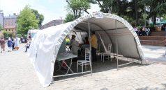 Trabzon meydanında mobil aşılama merkezi kuruldu