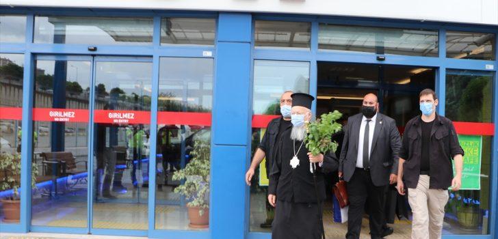 Fener Rum Patriği Bartholomeos, Sümela Manastırı'ndaki ayini yönetmek için Trabzon'a geldi