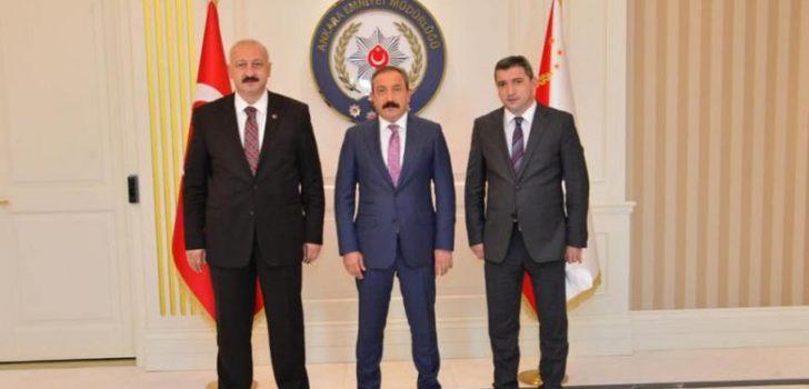 Başkan Çebi Araklı'lı Hemşehrisi Ankara Emniyet Müdürü İle Görüştü