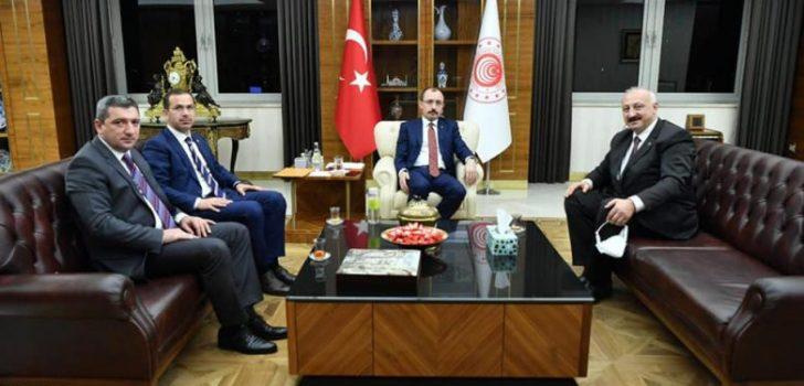 Başkan Çebi Ticaret Bakanı Muş ile Görüştü