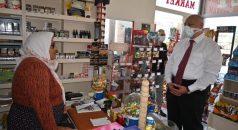 Başkan Çebi Türkan Teyzenin Marketini Ziyaret Etti